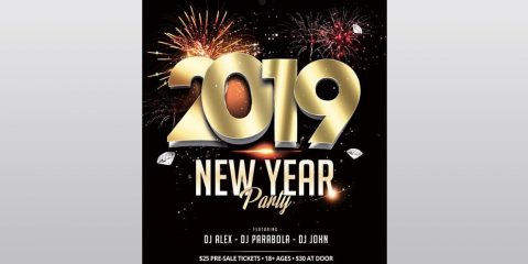 New Year – Free PSD Flyer Template