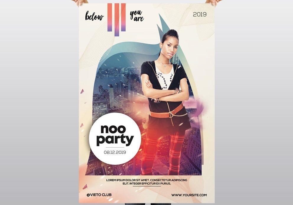 Noo Party – Free Alternative PSD Flyer Template