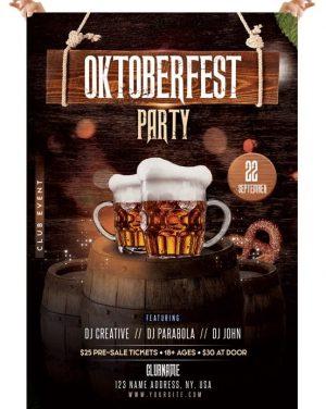 Oktoberfest – Free Photoshop PSD Flyer Template