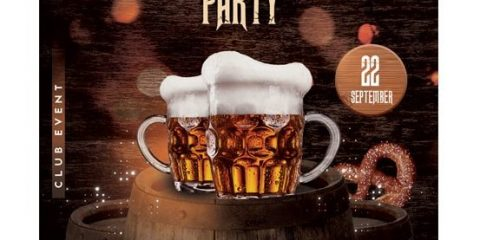 Oktoberfest – Free Photoshop PSD Flyer Template
