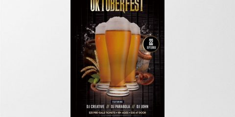 Oktoberfest Party – Free PSD Flyer Template