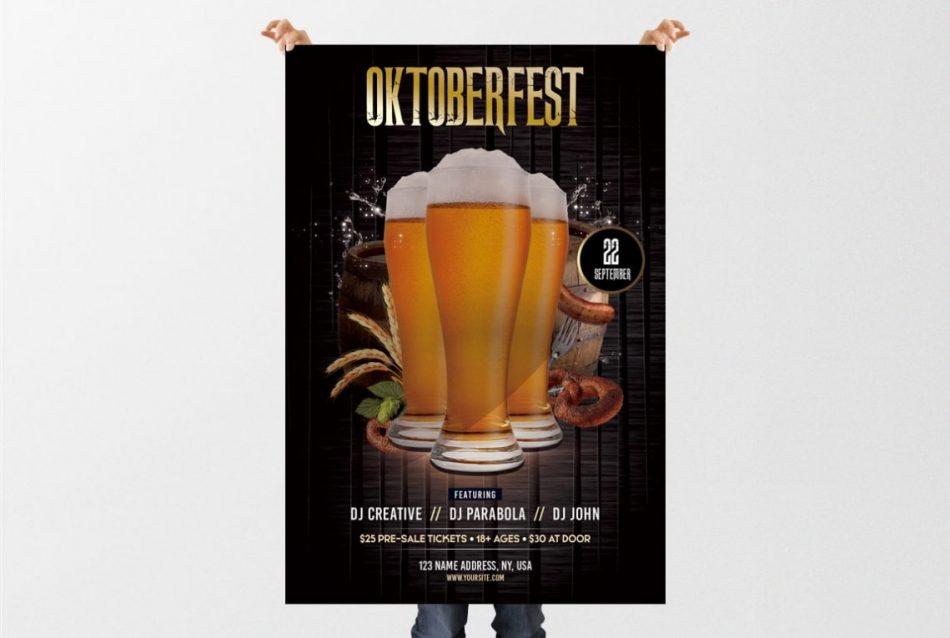 Oktoberfest Party – Free PSD Flyer Template