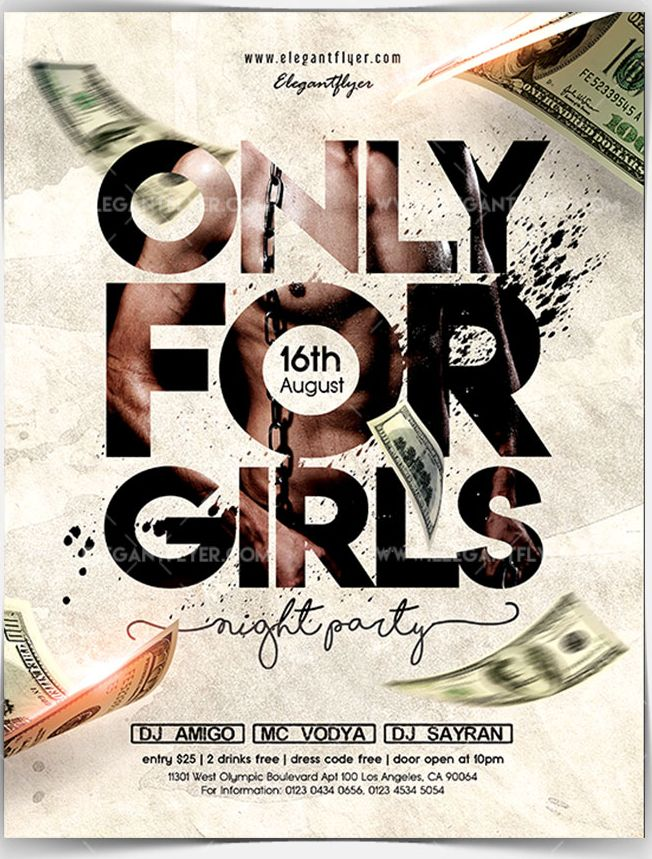 Only For Girls – Free Flyer PSD Template