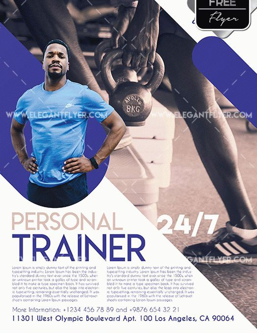 Personal Trainer Free Flyer Psd Template Psdflyer Co