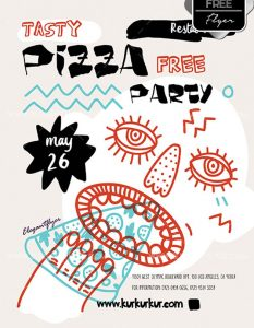 Pizza Party – Free Flyer PSD Template