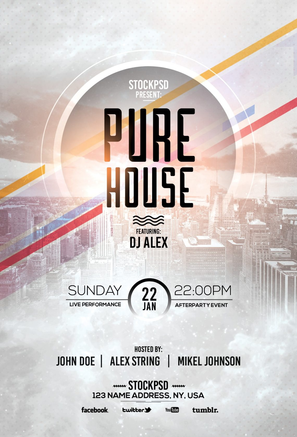 Pure House – Free PSD Flyer Template