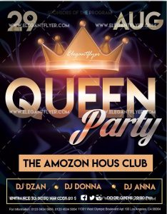 Queen Party – Free Flyer PSD Template