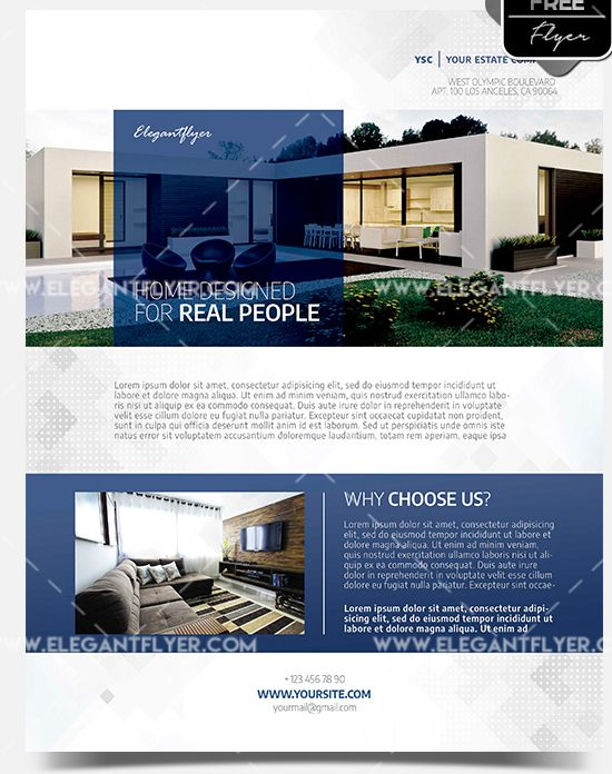 Real Estate – Free Flyer PSD Template