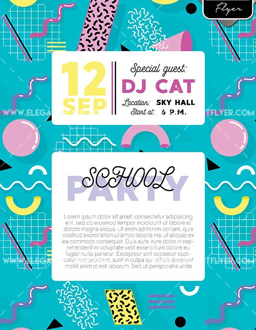 School Party – Free Flyer PSD Template