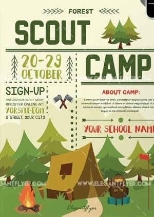 Scout Camp – Free Flyer PSD Template