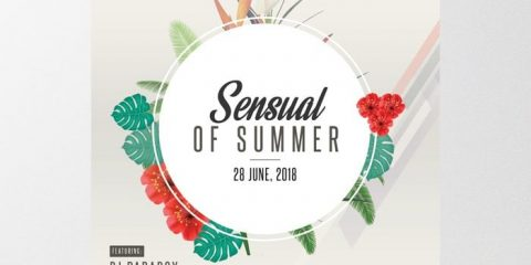 Sensual of Summer – Tropical Free PSD Flyer Template
