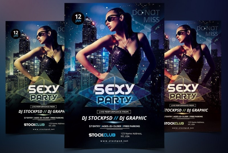 Sexy Party – Free PSD Flyer Template