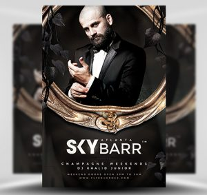 Skybarr Free PSD Flyer Template
