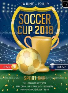 Soccer Cup – Free Flyer PSD Template