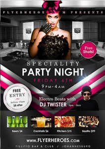 Speciality Party Free PSD Flyer Template