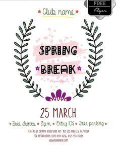 Spring Break – Free Flyer PSD Template