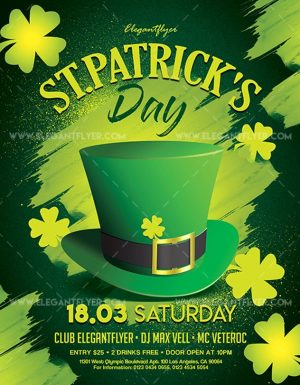 St. Patrick's Day – Free Flyer PSD Template