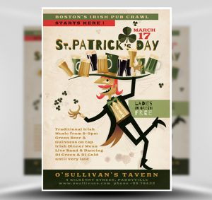 St. Patrick's Day Free PSD Flyer Template