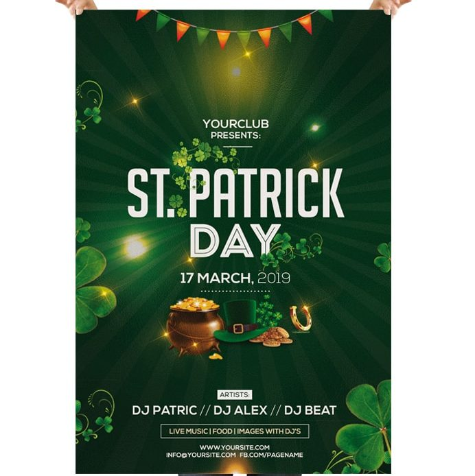 St. Patricks Free PSD Flyer Template