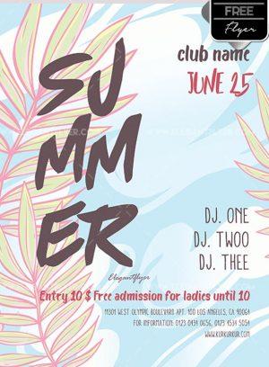 Summer – Free Flyer PSD Template