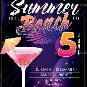 Summer Beach – Free Flyer PSD Template