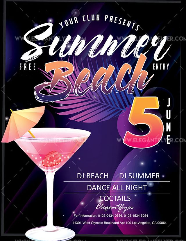 Summer Beach – Free Flyer PSD Template
