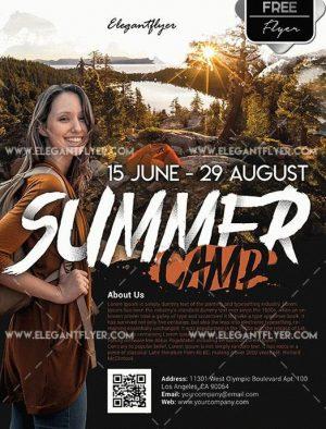 Summer Camp FREE PSD Flyer Template