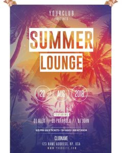 Summer Lounge – Free PSD Flyer Template