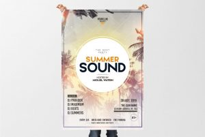 Summer Sound – Free PSD Flyer Template