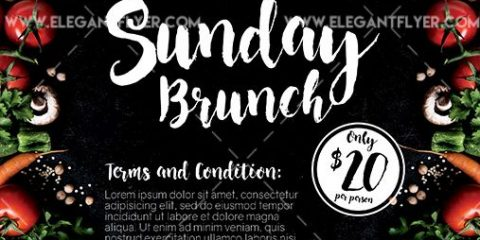 Sunday Brunch – Free Flyer PSD Template