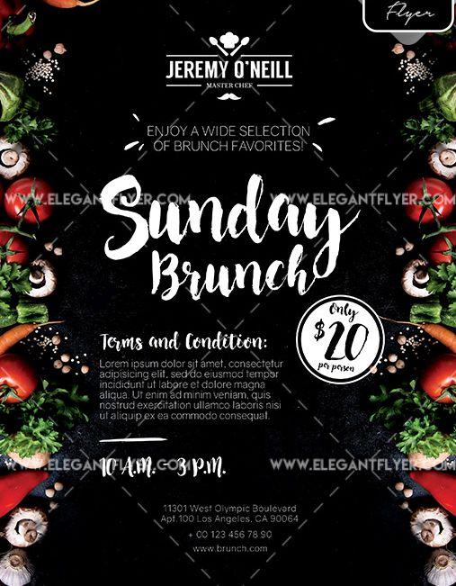 Sunday Brunch – Free Flyer PSD Template