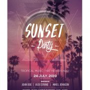 Sunset Party – Free PSD Flyer Templates
