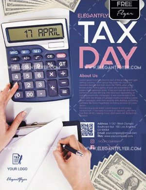 Tax Day FREE PSD Flyer Template