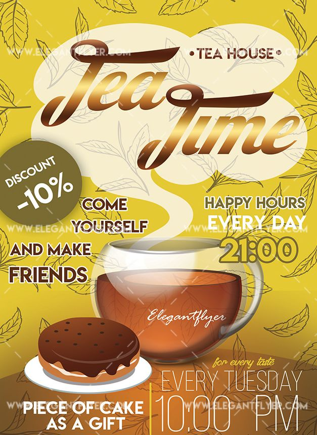 Tea Time – Free Flyer PSD Template