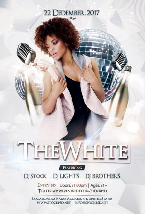 The White – Free Luxury PSD Flyer Template
