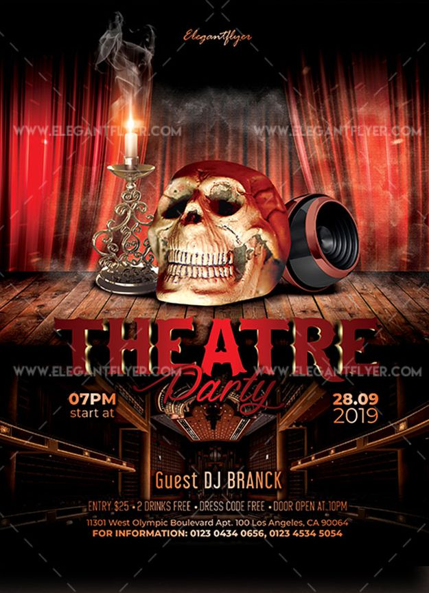 Theatre Party – Free Flyer PSD Template