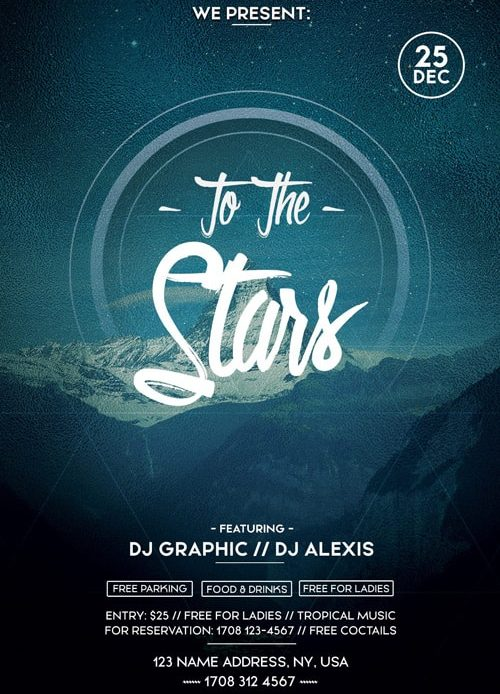 To The Stars – Free PSD Flyer Template