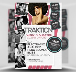 Traktion Free PSD Flyer Template