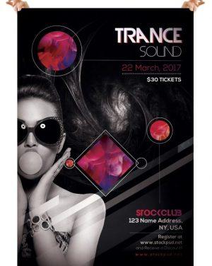 Trance Sound – Free PSD Flyer Template