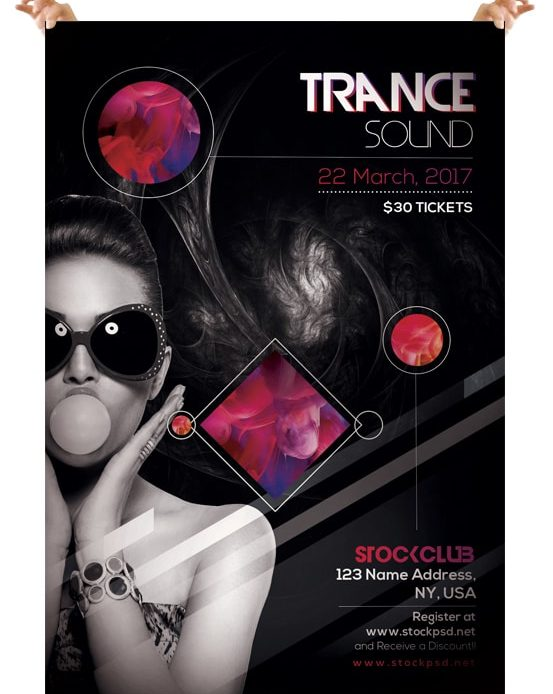 Trance Sound – Free PSD Flyer Template