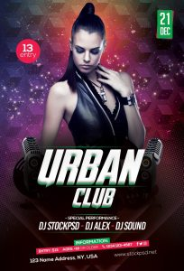 Urban Club – Download Free PSD Flyer Template