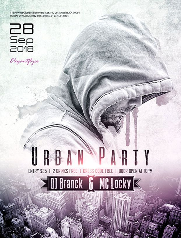 Urban Party – Free Flyer PSD Template