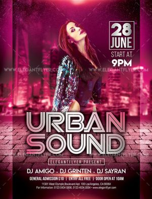 Urban Sound – Free Flyer PSD Template