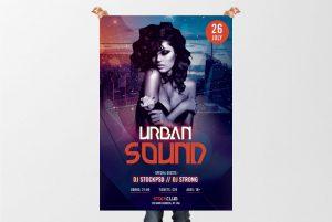 Urban Sound – Free PSD Flyer Template
