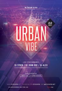 Urban Vibe – Free PSD Party Flyer Template