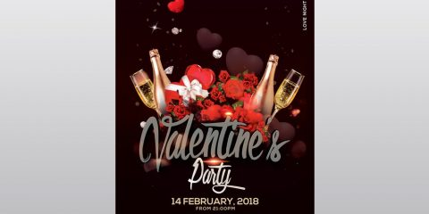 Valentine's Event Free PSD Flyer Template