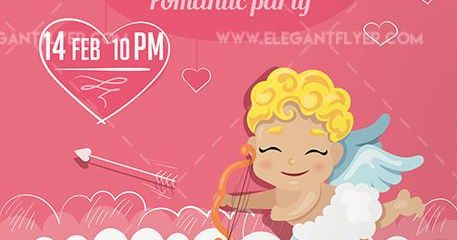 Valentine`s Day Party – Free Flyer PSD Template