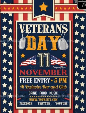 Veterans Day – Free Flyer PSD Template