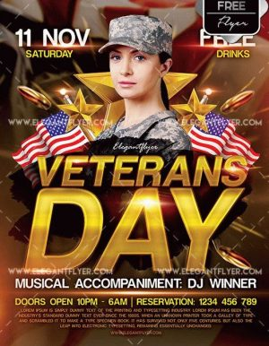Veterans Day Free PSD Flyer Templates