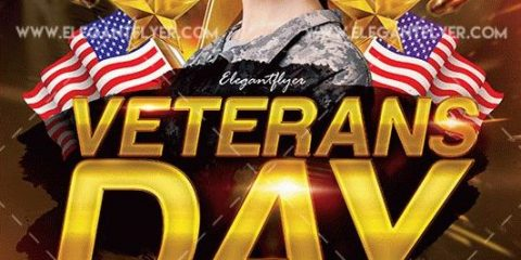 Veterans Day Free PSD Flyer Templates